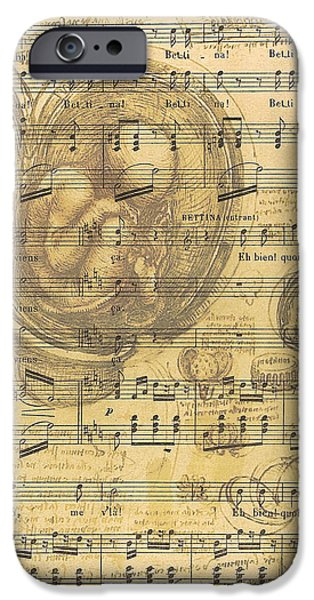 Biological Digital Art iPhone Cases - Baby Music iPhone Case by Nomad Art And  Design