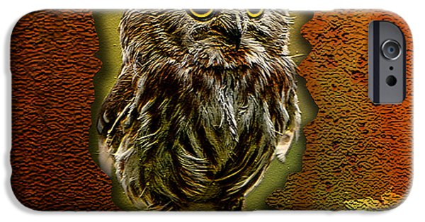 Owls iPhone Cases - Baby Owl iPhone Case by Marvin Blaine