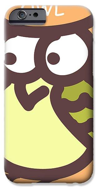 Nursery Art iPhone Cases - Baby Owl Nursery Wall Art iPhone Case by Nursery Art