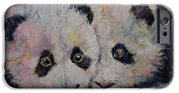 Recently Sold -  - Little iPhone Cases - Baby Pandas iPhone Case by Michael Creese