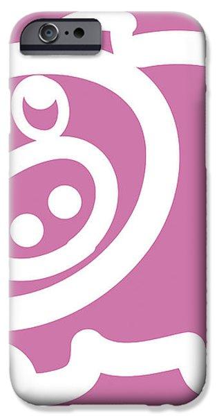 Baby pig art for the nursery iPhone Case by Nursery Art