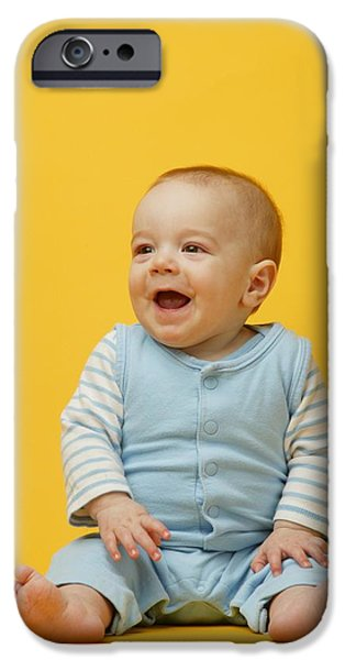 Innocence iPhone Cases - Baby Smiles iPhone Case by Darren Greenwood