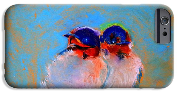 Swallow Chicks iPhone Cases - Baby Swallows iPhone Case by Sue Jacobi