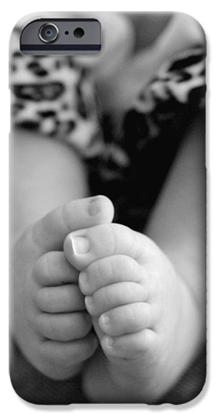 Youthful iPhone Cases - Baby Toes iPhone Case by Lisa  Phillips