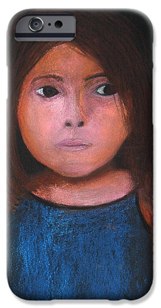 Negro Paintings iPhone Cases - Bacaba Girl iPhone Case by Patricia Beebe