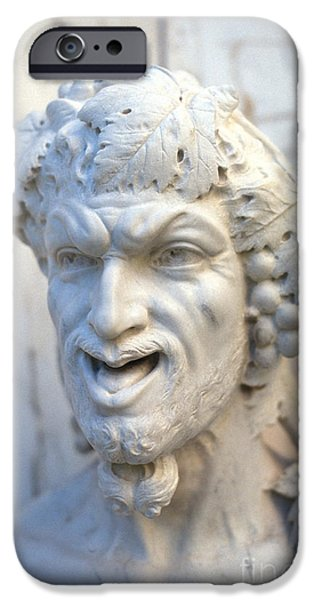 Statue Portrait iPhone Cases - Bacchus iPhone Case by Chris Selby
