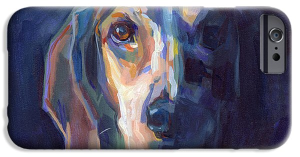 Beagles iPhone Cases - Bacchus iPhone Case by Kimberly Santini