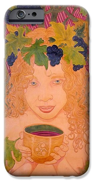 Food And Beverage Reliefs iPhone Cases - Bacchus iPhone Case by Ron Moses
