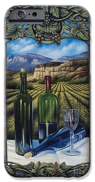 Bacchus Vineyard iPhone Case by Ricardo Chavez-Mendez