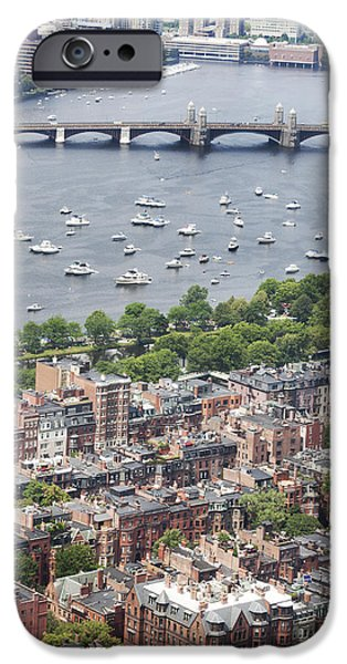 Recently Sold -  - Charles River iPhone Cases - Back bay in Boston iPhone Case by David Persson