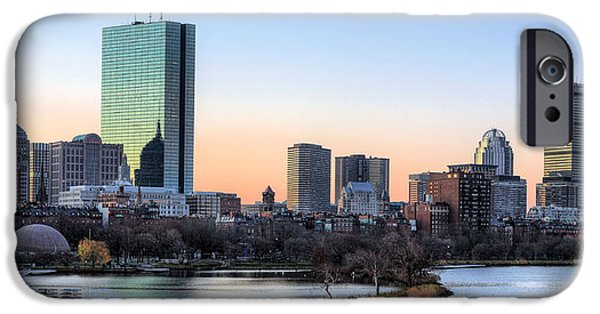 Landmarks Photographs iPhone Cases - Back Bay Sunrise iPhone Case by JC Findley
