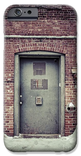 Concord. Winter iPhone Cases - Back door alley way iPhone Case by Edward Fielding