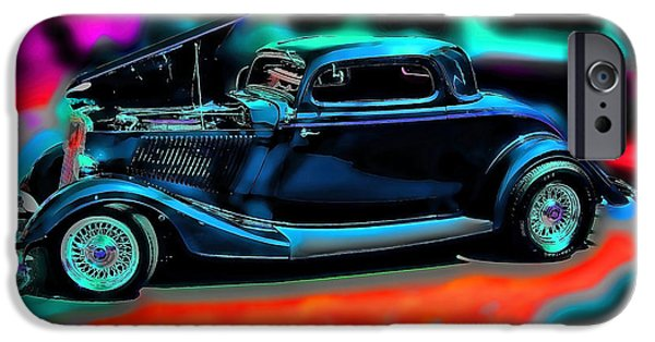 Vintage Cars iPhone Cases - Back In The Day Vintage Car Art iPhone Case by Lesa Fine