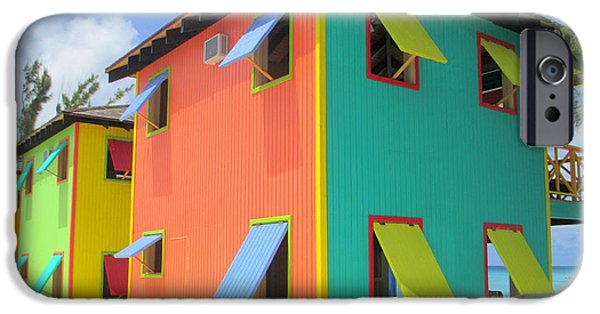 Window Cover iPhone Cases - Back Of Cabins 1 iPhone Case by Randall Weidner