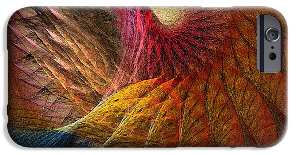 Poetic iPhone Cases - Back on Earth Abstract Art Print iPhone Case by Karin Kuhlmann