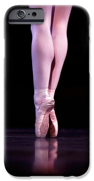 Ballet Dancers Photographs iPhone Cases - Back Pointe iPhone Case by Lone  Dakota Photography
