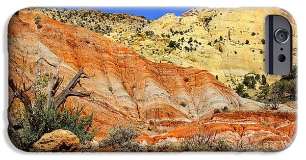 Red Rock iPhone Cases - Back Roads Utah iPhone Case by Mike McGlothlen