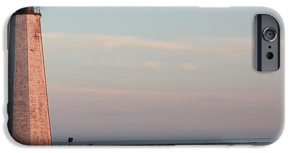Lighthouse iPhone Cases - Back to Five Mile Point iPhone Case by Stephen Melcher