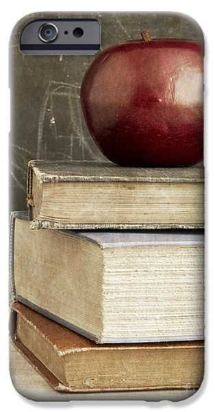 Elementary iPhone Cases - Back to School Apple for Teacher iPhone Case by Edward Fielding