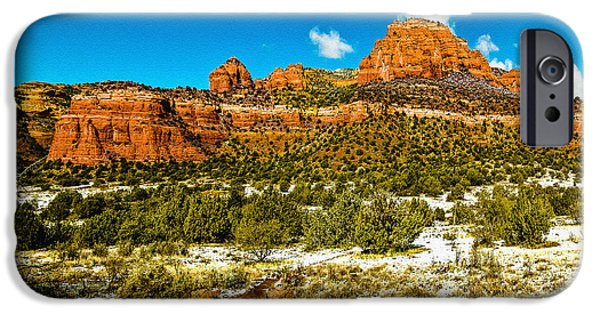 Oak Creek Digital iPhone Cases - Backcountry Panorama Sedona iPhone Case by  Bob and Nadine Johnston