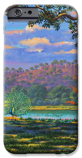 Backdrop for three altars iPhone Case by Vrindavan Das
