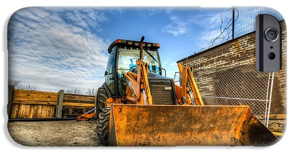 Backhoe iPhone Cases - Backhoe iPhone Case by Anthony Doudt