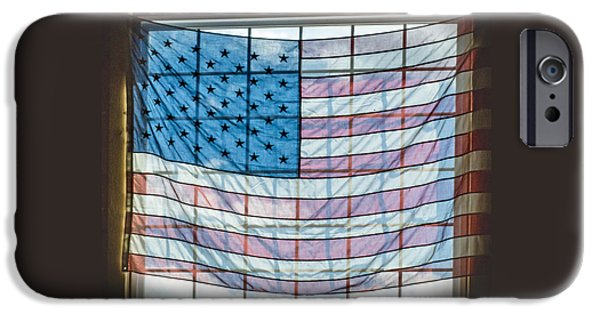 Recently Sold -  - 4th July iPhone Cases - Backlit American Flag iPhone Case by Photographic Arts And Design Studio