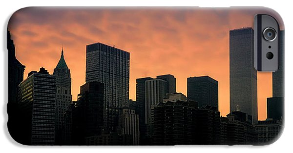 Twin Towers Nyc iPhone Cases - Backlit iPhone Case by Joann Vitali