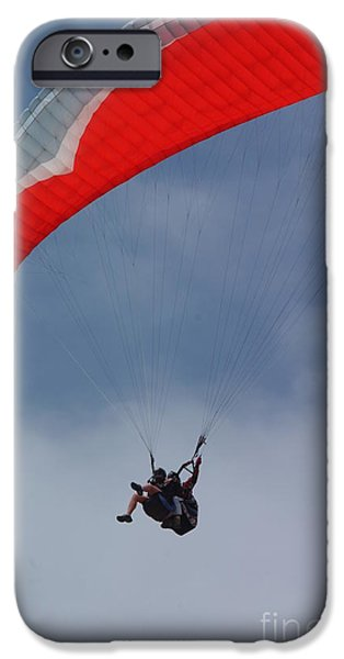 Backlit Paragliders from Below - Torrey Pines iPhone Case by Anna Lisa Yoder