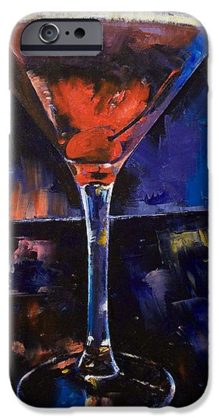 Michael Paintings iPhone Cases - Backstage Martini iPhone Case by Michael Creese