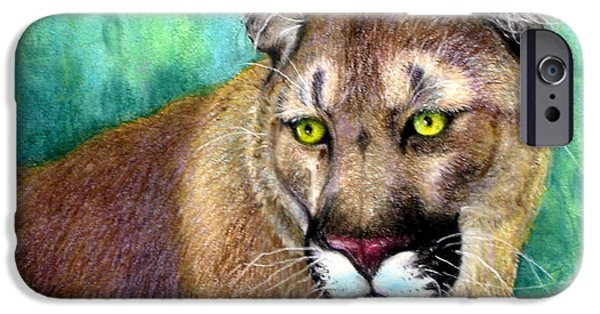 Wild Animals Pastels iPhone Cases - Bad Attitude iPhone Case by Tanja Ware