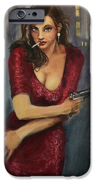 Bad Girl iPhone Case by Tom Shropshire