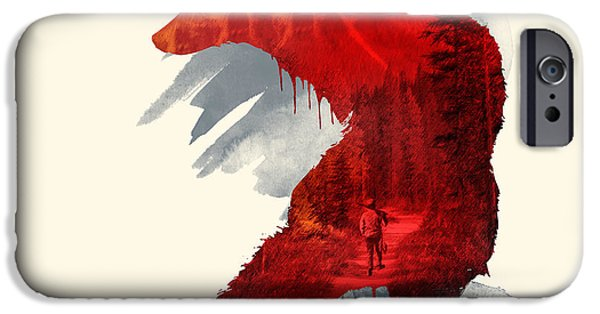 Forest Mixed Media iPhone Cases - Bad Memories iPhone Case by Robert Farkas