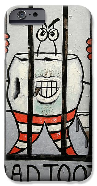 Greeting Digital Art iPhone Cases - Bad Tooth iPhone Case by Anthony Falbo
