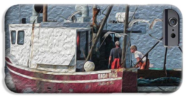 Chatham Digital Art iPhone Cases - Bada Bing II iPhone Case by Heather MacKenzie