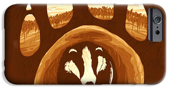 Ground iPhone Cases - Badger Paw iPhone Case by Daniel Hapi