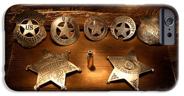 Recently Sold -  - Law Enforcement iPhone Cases - Badges Of The West iPhone Case by Daniel Alcocer