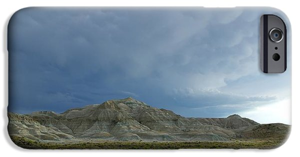 Approaching Storm iPhone Cases - Badlands iPhone Case by David Andersen