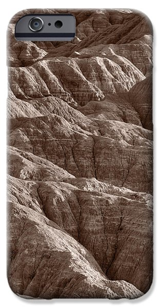 Badlands iPhone Cases - Badlands Light BW iPhone Case by Steve Gadomski