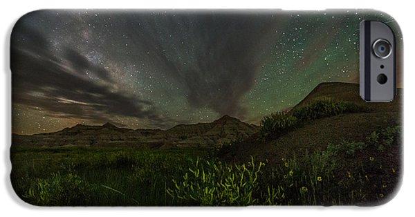 Astrophotography iPhone Cases - Badlands Meteor iPhone Case by Aaron J Groen
