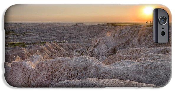 Pastel iPhone Cases - Badlands Overlook Sunset iPhone Case by Adam Romanowicz