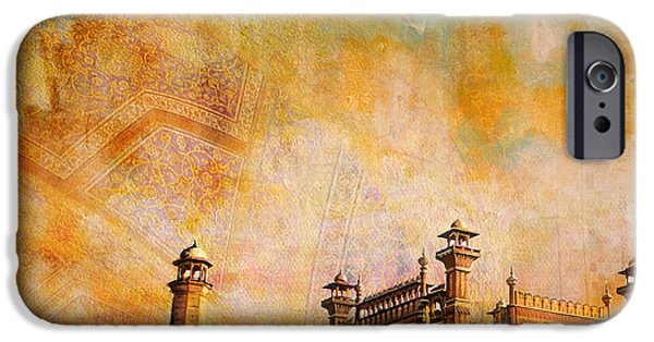 Pakistan iPhone Cases - Badshahi Mosque iPhone Case by Catf