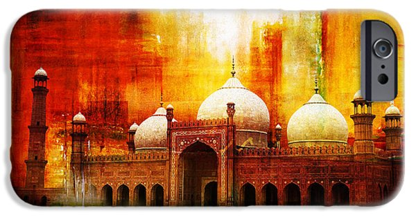 Tomb iPhone Cases - Badshahi Mosque or The Royal Mosque iPhone Case by Catf
