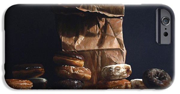 Donuts iPhone Cases - Bag Of Donuts iPhone Case by Larry Preston