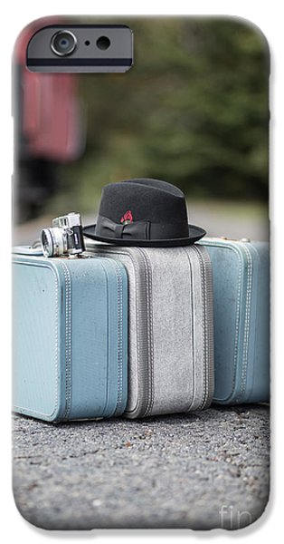 Caboose Photographs iPhone Cases - Bags all packed ready to go iPhone Case by Edward Fielding