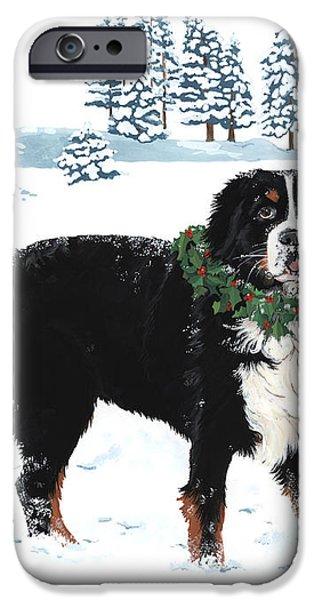 Bah Humbug Merry Christmas large iPhone Case by Liane Weyers