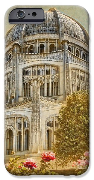Business Photographs iPhone Cases - Bahai  Temple in Wilmette iPhone Case by Rudy Umans