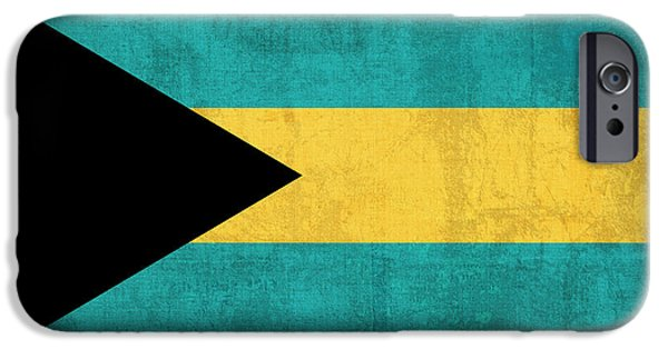 Recently Sold -  - Nation iPhone Cases - Bahamas Flag Vintage Distressed Finish iPhone Case by Design Turnpike