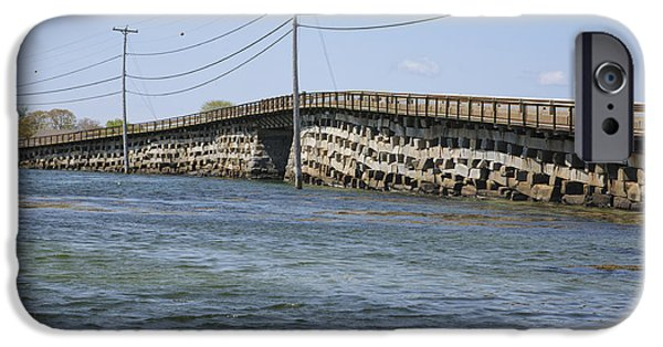Covered Bridge iPhone Cases - Bailey Island Bridge - Harpswell Maine iPhone Case by Erin Paul Donovan