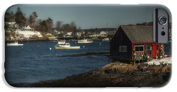 Lobster Shack iPhone Cases - Bailey Island iPhone Case by Chad Tracy